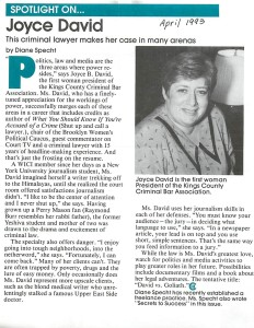 New York Women in Communications profile 1993.