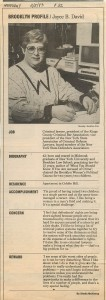 Newsday Profile 1993